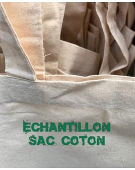 echantillon sac coton