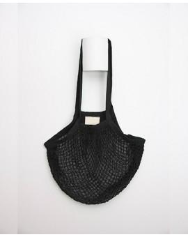 sac filet coton noir
