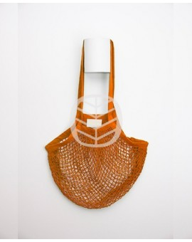 sac filet coton orange à personnaliser