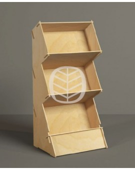 présentoir casiers bois