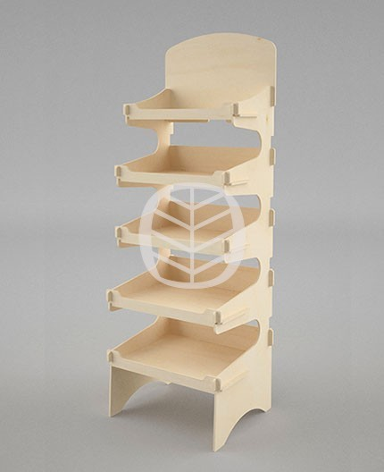 présentoir colonne bois