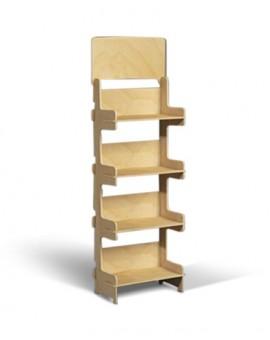 présentoir bois colonne